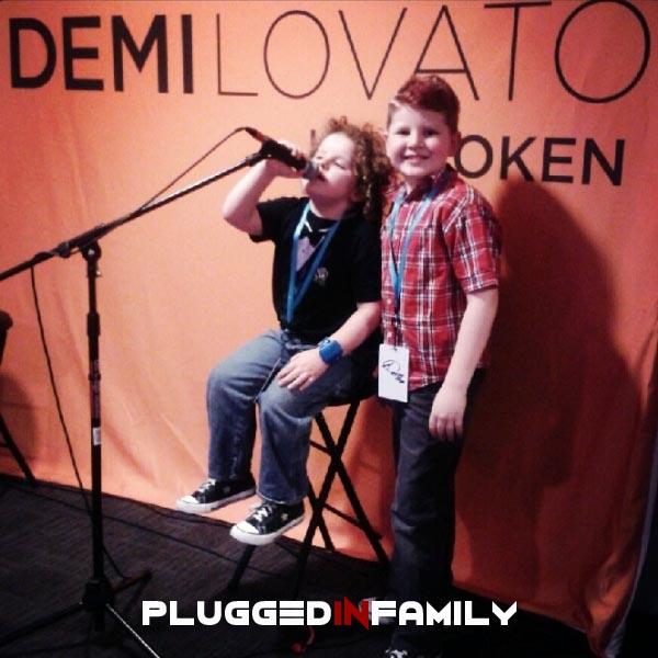 Future rock stars sitting where Demi Lovato sat
