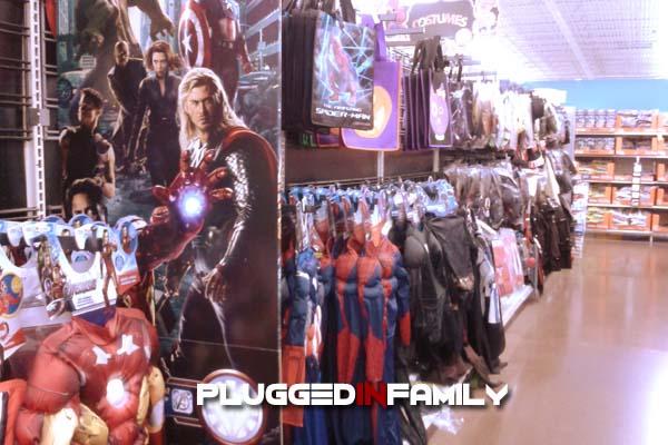 Hulk, Thor, Captain America costumes