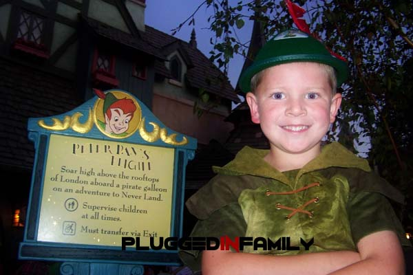 Ready to fly at Peter Pan's Flight