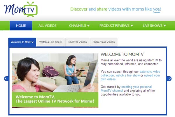 MomTV is a place to share and watch videos for mom that Maria Bailey calls a YouTube for moms