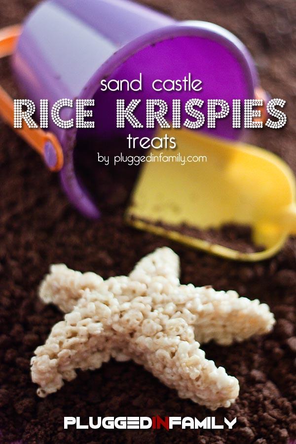 Sand Castle Rice Krispies Treats