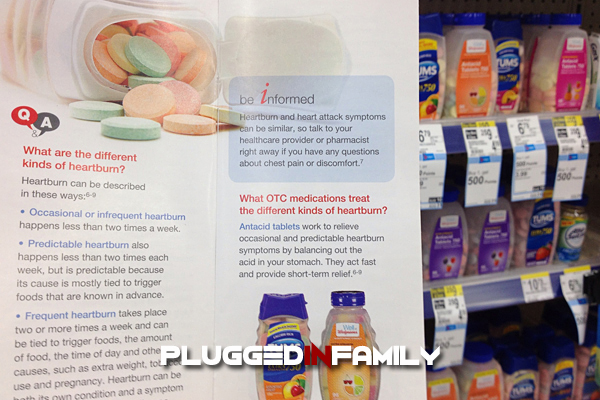 Getting informed about heartburn relief through Answers at Walgreens pamphlet