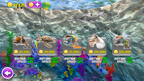 Costume selection for My Dolphin Show free app