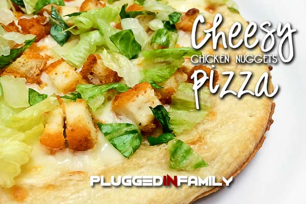 Cheesy Chicken Nuggets Pizza Recipe