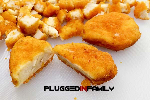 Sliced Chicken Nuggets