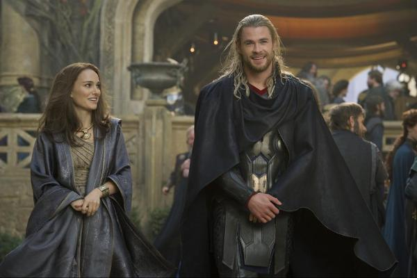 Thor and Jane on Asgard