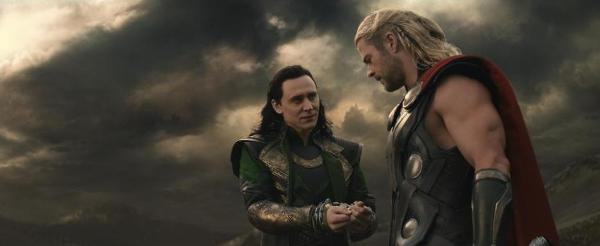 Thor and Loki in handcuffs