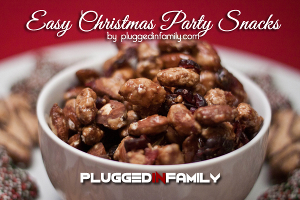 Easy Christmas Party Snacks with Cranberry Almonds