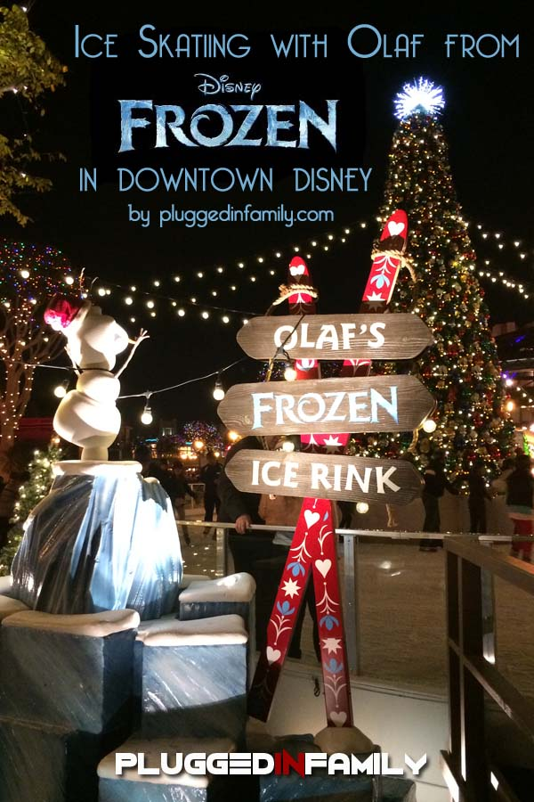Ice Skating in Downtown Disney with Olaf