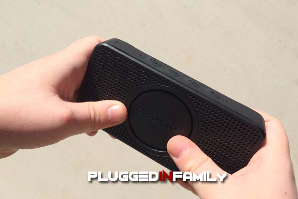 Small iPhone speaker fits in a child's hands