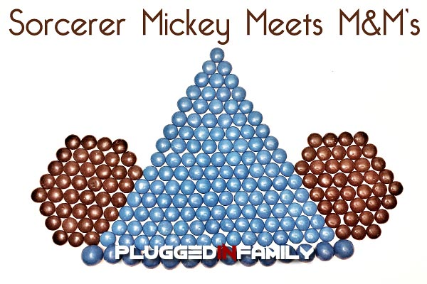 Sorcerer Mickey Mouse Hat created with M&M pixel art