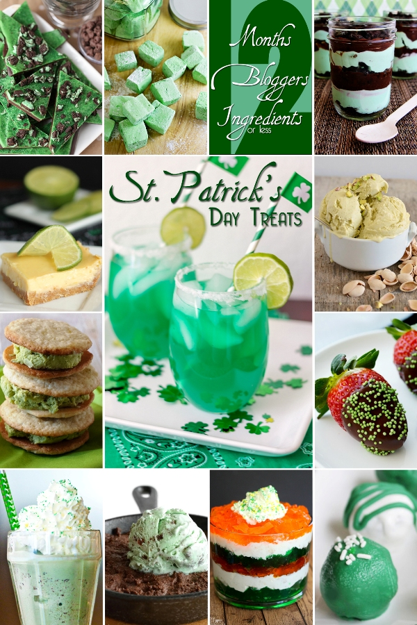 12 Bloggers | 12 Ingredients | 12 Months with St. Patrick's Day Treats and Drinks #12Bloggers