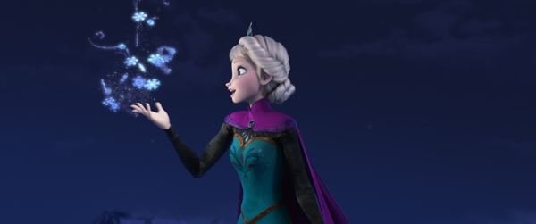 Elsa singing Let It Go in Disney Frozen