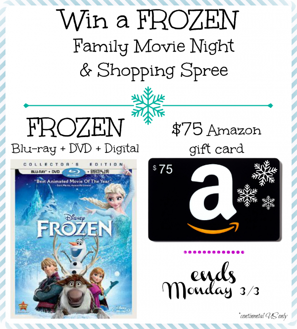 FROZEN giveaway for family movie night
