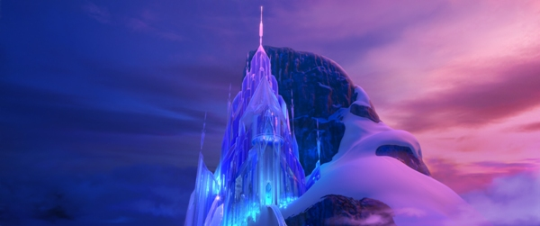 Ice Castle made by Elsa in Disney Frozen movie