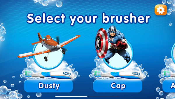 Select your brusher on the free Disney app