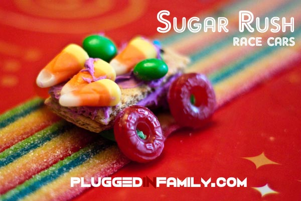 Sugar Rush race cars made with candy