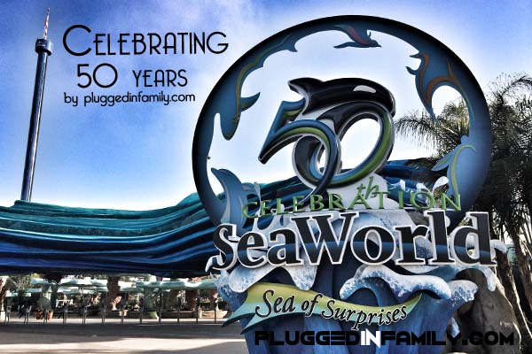 The new entrance for the 50th celebration at SeaWorld San Diego