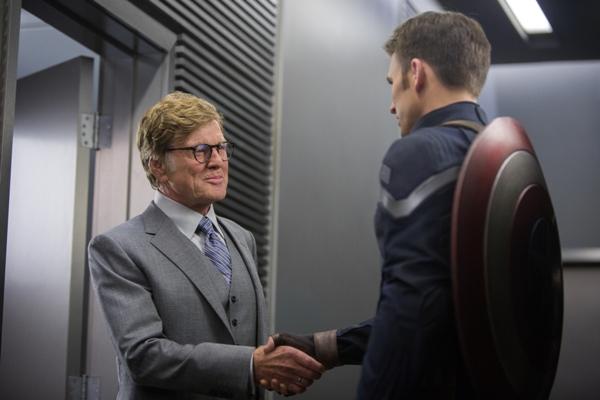 Alexander Pierce and Steve Rogers as Captain America