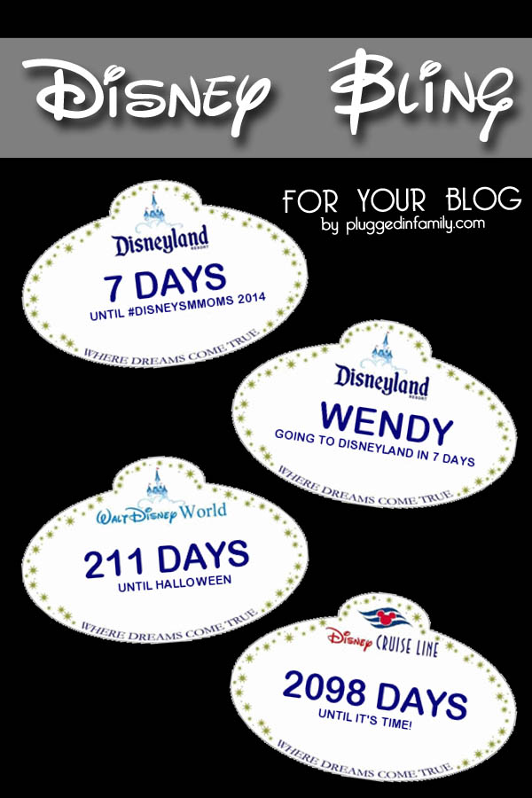 Disney Badges And Bling For Your Blog C2014 Plugged In Family Wright Media