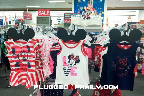Girls fashion display at Kohls