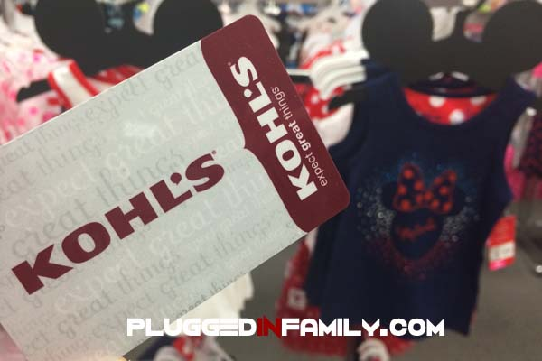 Kohl's gift card for Jumping Beans Disney Living collection