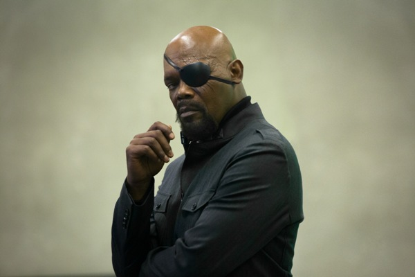 Nicky Fury played by Samuel L. Jackson