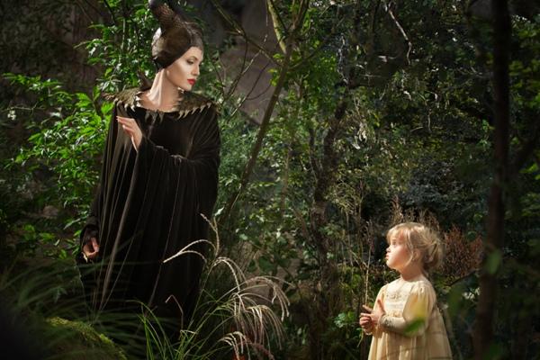 Angeline Jolie with Vivienne Jolie-Pitt in Maleficent