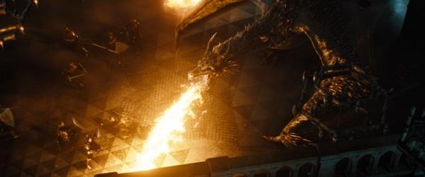 Fire Breathing Dragon in Maleficent