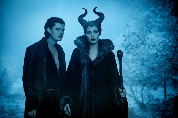Maleficent with Diaval, played by Sam Riley