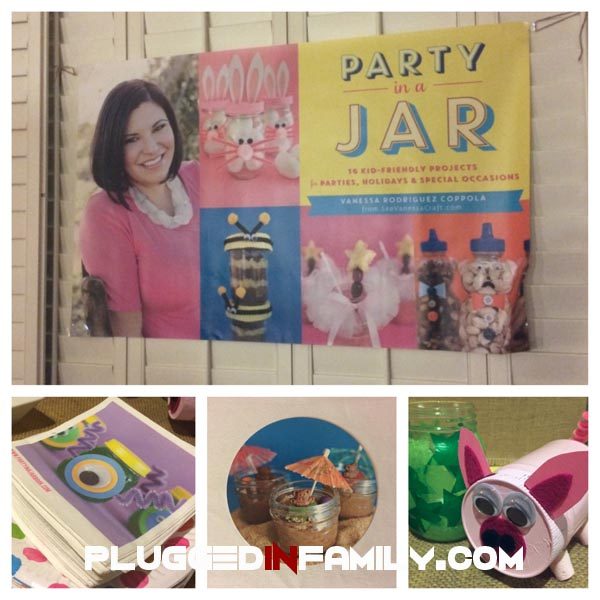 Party In A Jar book launch party decorations by Vanessa Rodriguez Coppola from See Vanessa Craft