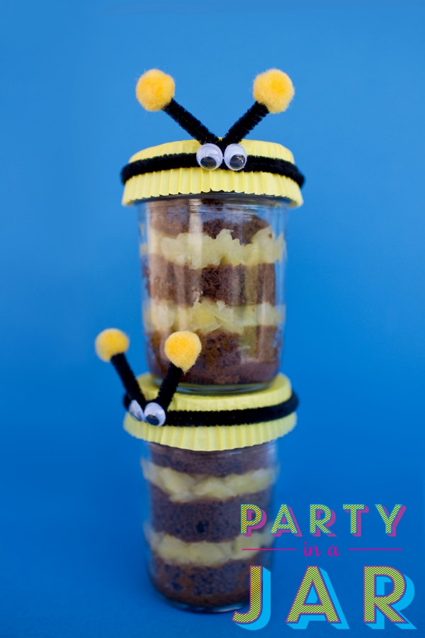 Party in a Jar bees craft by Vanessa Coppola