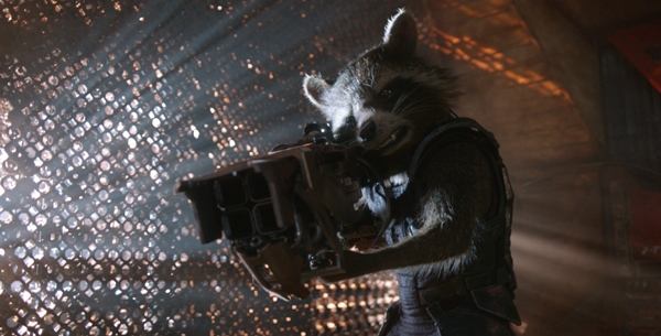 Rocket Racoon voice by Bradley Cooper from Guardians of the Galaxy