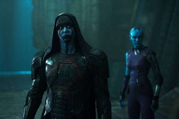 Ronan played by Lee Pace and Nebula played by Karen Gillan from Guardians of the Galaxy