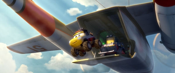 Smokejumpers jumping from a perfectly good airplane in Planes Fire and Rescue