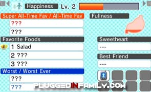 Happiness level of Mii on Tomodachi Life
