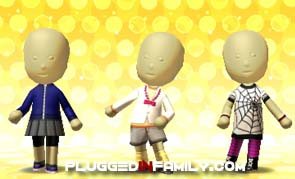 Mii fashion on Tomodachi Life Nintendo DS video game