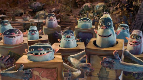 The BoxTrolls show happiness by thumping on their chest