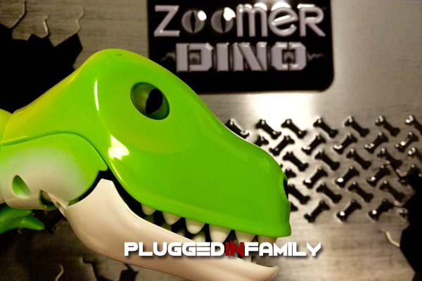 Zoomer dino the remote control dinosaur roars to life plugged in