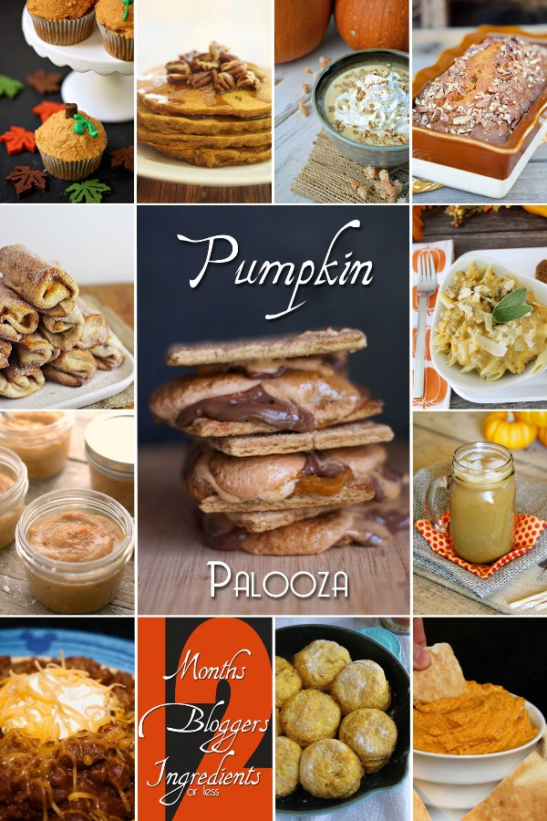 12 Bloggers Ingredients Months October Pumpkin Palooza Recipe Collection