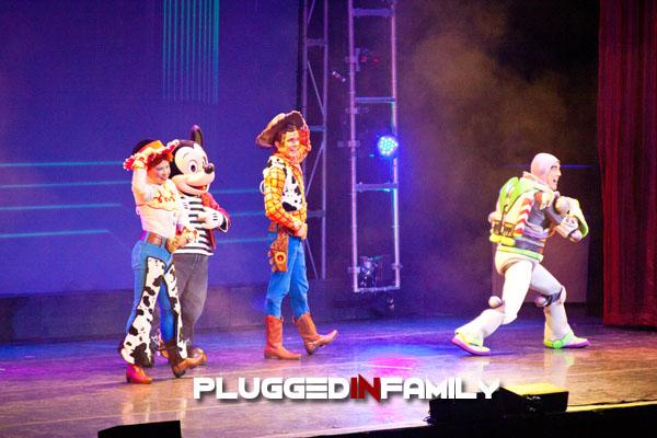 Buzz Lightyear, Sheriff Woody, Jessie and Mickey