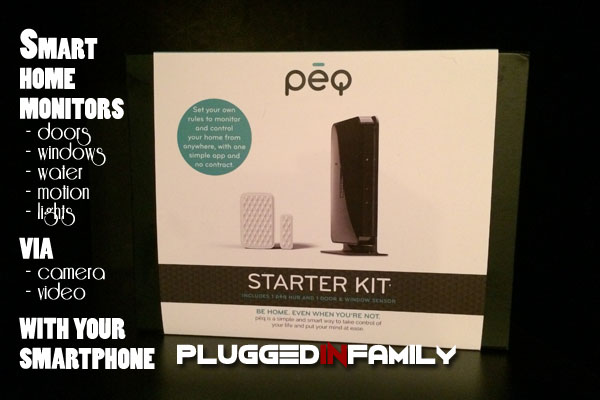 PEQ smart home monitors via video and camera with your smartphone