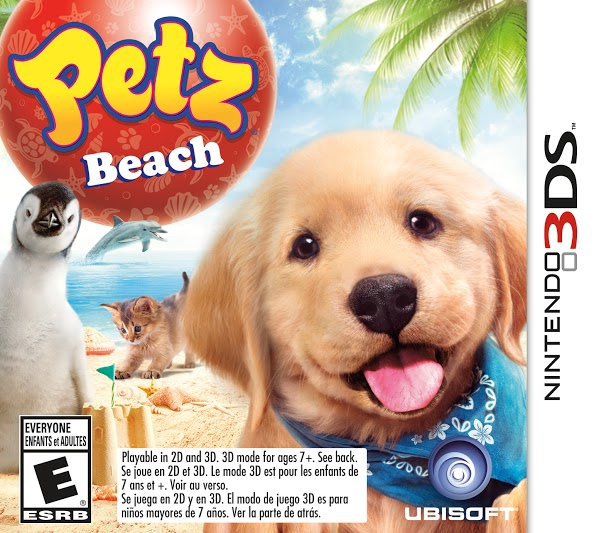 Petz Beach game cover for Nintendo 3Ds by Ubisoft
