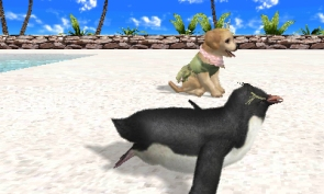 Petz Beach screenshot with penguin
