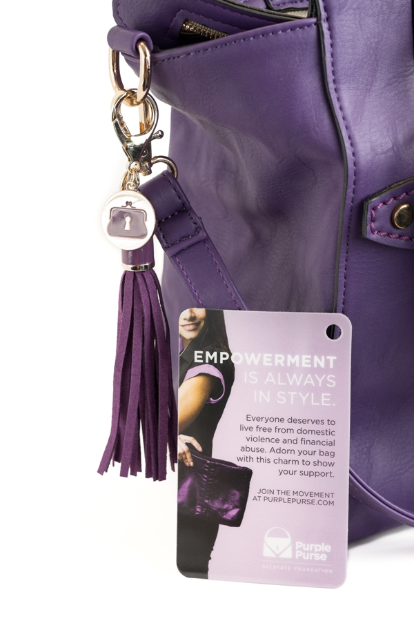 Purple Purse Charm support freedom from Domestic Violence