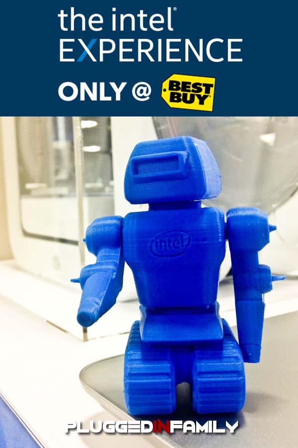 Best Buy Intel Experience with 3D printer and blue robot