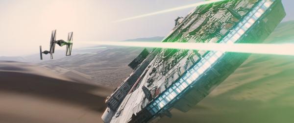 Star Wars The Force Awakens Millenium Falcon sneak peek