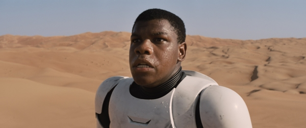 Star Wars The Force Awakens Stormtrooper in the Desert played by John Boyega