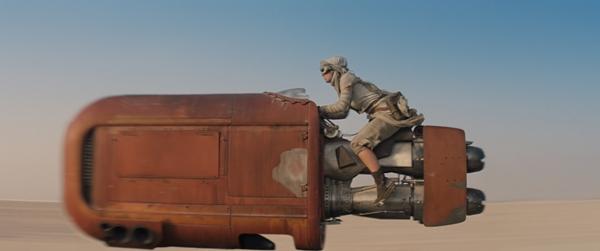 Star Wars The Force Awakens official teaser photos landspeeder Daisy Ridley