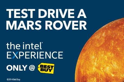 Test drive a Mars Rover at the Intel Experience at Best Buy